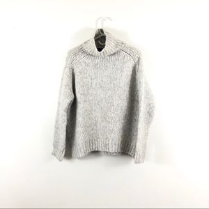 Zara Knit Gray Italian Yarn Turtleneck Sweater